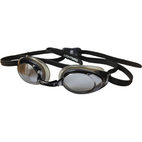 FINIS Lightning Low Profile Racing Lunettes De Protection, black/smoke